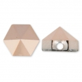 Hexagon Spike Bead Swarovski 5060 5.5 mm Crystal Rose Gold x1