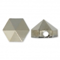 Hexagon Spike Bead Swarovski 5060 5.5 mm Crystal Metallic Light Gold x1