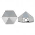 Hexagon Spike Bead Swarovski 5060 5.5 mm Crystal Light Chrome x1