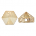 Hexagon Spike Bead Swarovski 5060 5.5 mm Crystal Golden Shadow x1