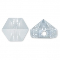 Hexagon Spike Bead Swarovski 5060 5.5 mm Crystal Blue Shade x1