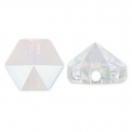 Hexagon Spike Bead Swarovski 5060 5.5 mm Crystal AB x1