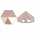 Hexagon Spike Bead Swarovski 5060 doppio foro7.5 mm Crystal Rose Gold x1
