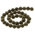 Perles rondes Druzy Agate 10 mm Golden x5