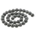 Perles rondes Druzy Agate 10 mm Silver x5