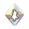 Pendente Swarovski 6926 Growing Crystal Rhombus 36 mm Crystal AB