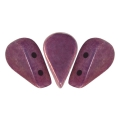 Perle in vetro Amos® par Puca® 5x8mm Opaque Luster Amethyst x10g