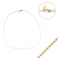 Girocollo maglia palline 1 mm in Gold filled 14K x 38.1cm