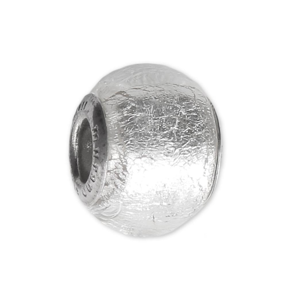 Perla vetro e argento 925 con foro largo - Exclusive - Foglia d\'ar ...