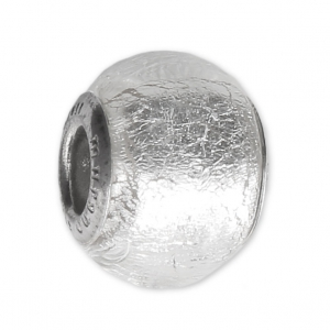 Perla vetro e argento 925 con foro largo - Exclusive - Foglia d ...