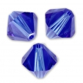 Biconi Swarovski mm. 4  Majestic Blue x50