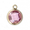 Pendente 8.5x6.5 mm Light Rose/Gold filled 14 carati x1