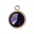 Pendente8.5x6.5 mm Amethyst/Gold filled 14 carati x1