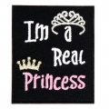 Termoadesivo - Messaggio 60x50 mm I'm a real Princess x1