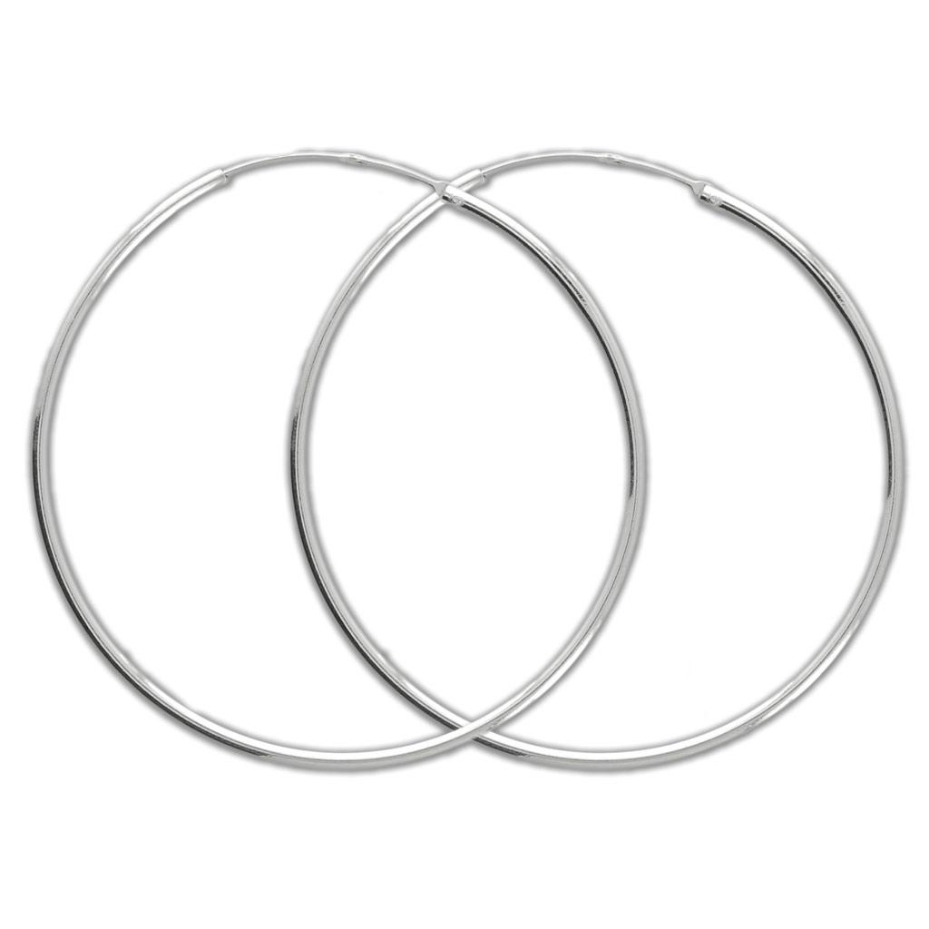 fabbrica fornire un sacco di gamma molto ambita di Orecchini a cerchio - Fabbricazione europea - 40 mm Argento 925 x2