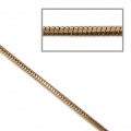 Catena snake bicolore 1.7 mm dorato/Marrone x1m