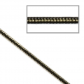Catena snake bicolore 1.7 mm dorato/Nero x1m
