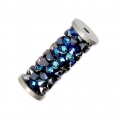 Crystal Fine Rocks Tube Swarovski 5950 15 mm Crystal Bermuda Blue x1