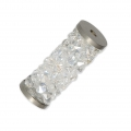 Crystal Fine Rocks Tube Swarovski 5950 15 mm Crystal Moonlight l x1