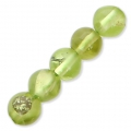 Perles rondes 4 mm Peridot x20