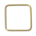 Base di montaggio quadrata mm. 18 Gold filled 14K x1