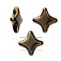 Perline di vetro Star Bead di Perles and Co 11x11 mm Gold Bronze x30