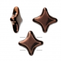 Perline di vetro Star Bead Perles and Co 11x11 mm Dark Bronze x30