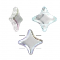 Perline di vetro Star Bead Perles and Co 11x11 mm Crystal AB x30