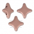 Perline di vetro Star Bead Perles and Co 11x11 mm Light Copper Mat x30