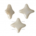 Perline di vetro Star Bead Perles and Co 11x11 mm Opaque Beige Ceramic Look x30