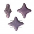 Perline di vetro Star Beads Perles and Co 11x11 mm Opaque Luster Amethyst x30