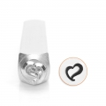 Punzone  ImpressArt - 6 mm -  Swirly Heart x1