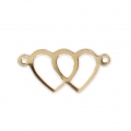 Distanziatore sottile cuore 2 anellini 18x8.5 mm Gold filled 14 carati x1