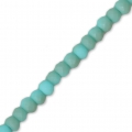 Perline schiacciate sfaccettate mm. 3x2 mm Turquoise Frosted x4