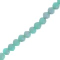 Cipollotti/ Rondelle cinesi 4x3 mm Light Turquoise Frosted x50cm
