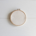Tambour à broder medium Hula hoop Kesi Art 15.5 cm avec tissu canvas à customiser