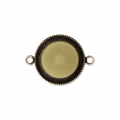 Distanziatore/connettore per cabochon retro piatto 18 mm bronzo x1