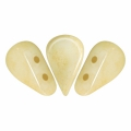 Perle in vetro Amos® par Puca® 5x8mm Opaque Ivory Ceramic Look x10g