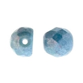 Cabochon in vetro sfaccettati 6 mm Opaque Blue Ceramic Look x25