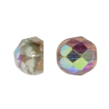 Cabochon in vetro sfaccettati 6 mm Crystal Copper Rainbow x25