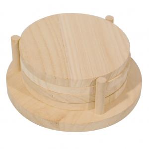 4 sotto bicchieri in legno grezzo paulownia da decorare for Bicchieri in legno