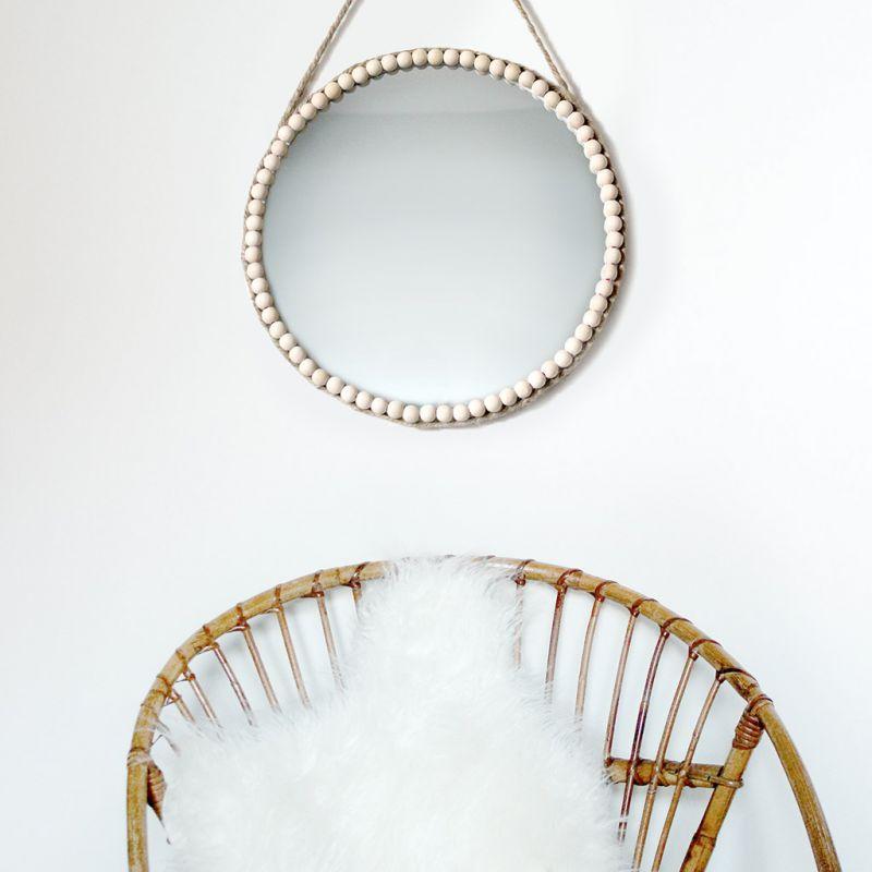 Specchio rotondo da personalizzare 35 cm perles co - Specchio rotondo ...