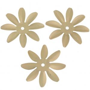 Fiori 8 Petali.Fiore 8 Petali In Ottone 25 Mm Dorato Satinato X1 Perles Co