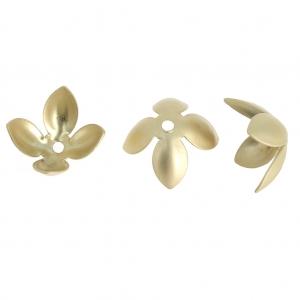 Fiori 4 Petali.Fiore 4 Petali In Ottone 13 Mm Dorato Satinato X1 Perles Co