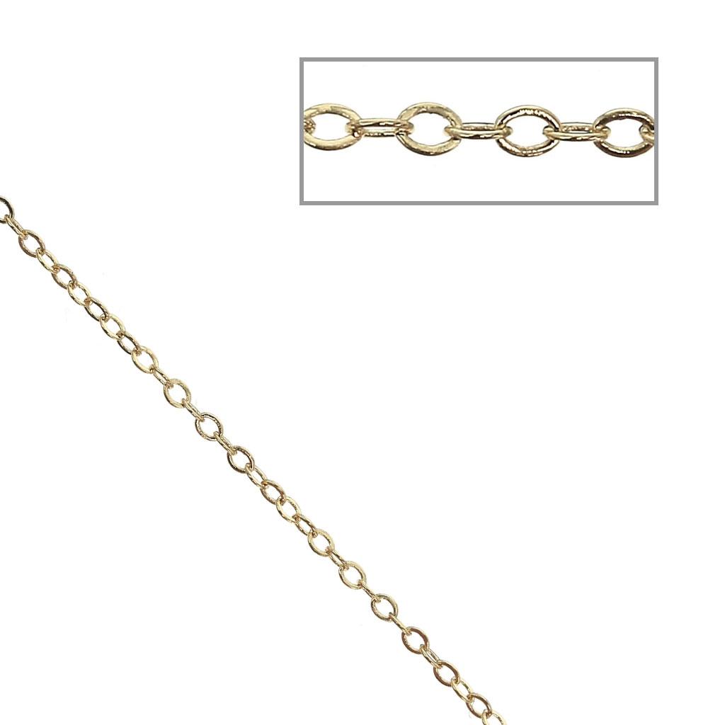 nuovo di zecca sito affidabile vendite calde Catena maglia forzatina specchio alternata (1/1) 1.4 mm dorato x50cm