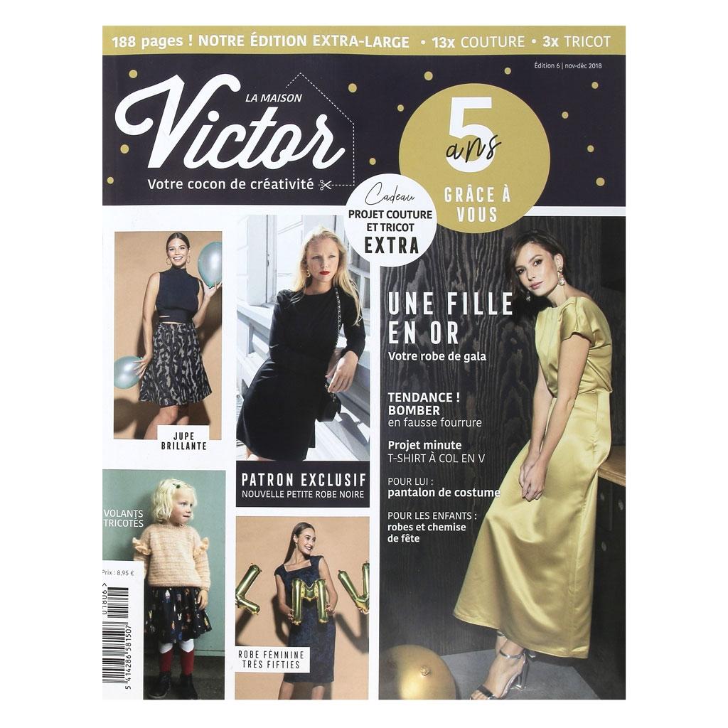 La maison victor 16 projets de couture et tricot novembre d cembre 2018 x1 perles co - Maison couture et fils ...