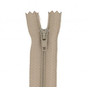 meet 4e7f2 59029 Cerniera lampo/zip per gonna/vestito/pantalone 60 cm Beige x1