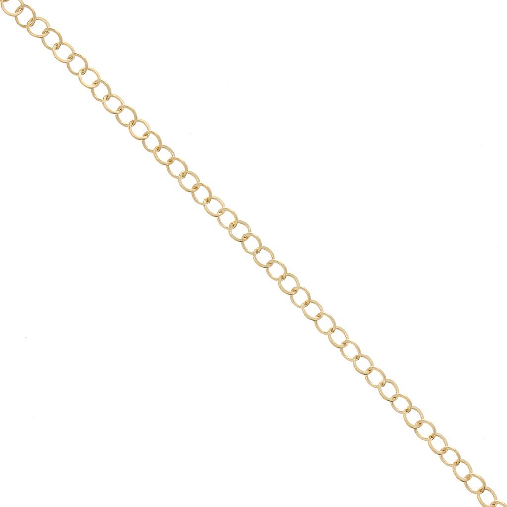 migliori marche a buon mercato prezzo moderato Catena maglia forzantina rotonda 2.9 mm Placcato oro x50 cm
