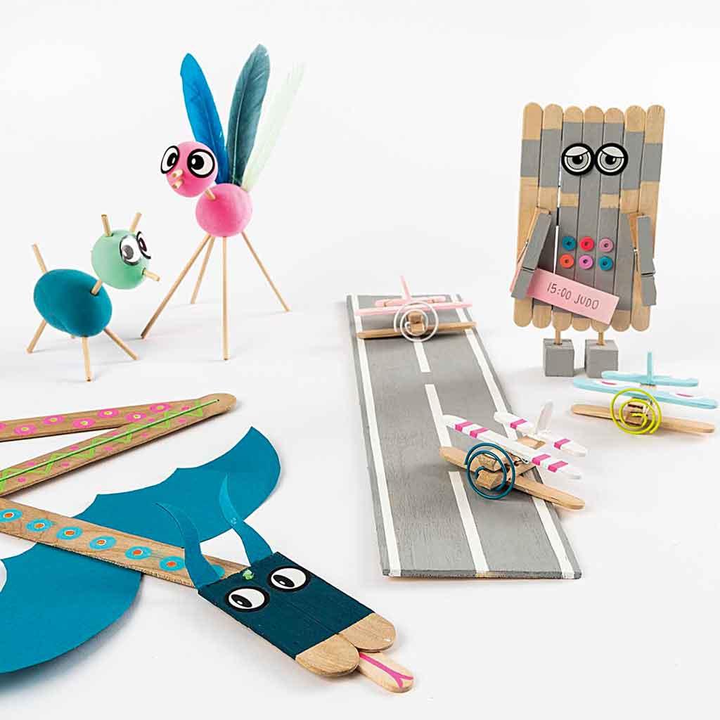 0a1f92fbc5 Kit bricolage per bambini Rico Design 100 pezzi di legno x1 - Perles ...