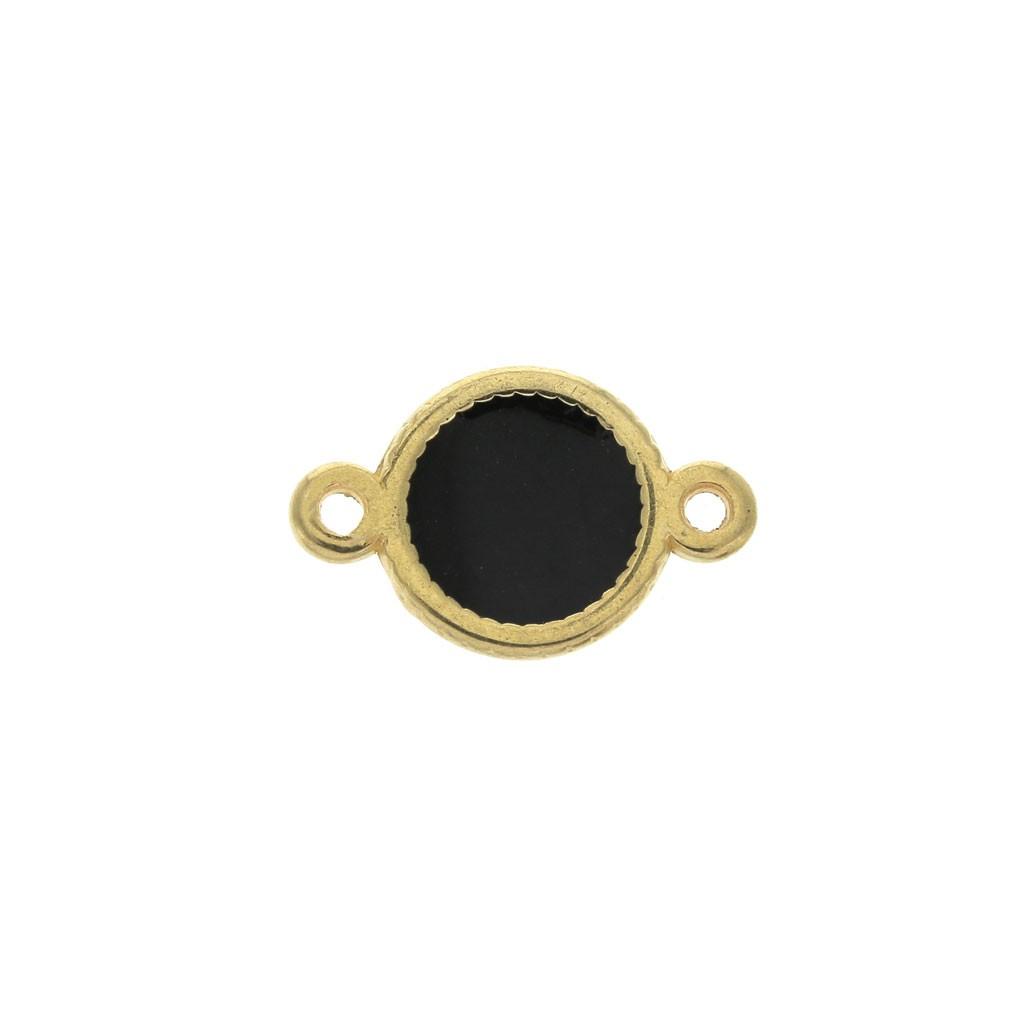 Distanziatore 2 anellini ovale in zamac e resina ...